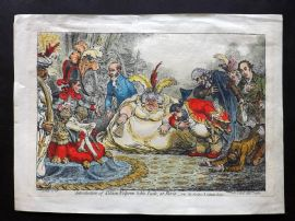 James Gillray 1802 HC Print Introduction of Citizen Volpone & his Suite at Paris